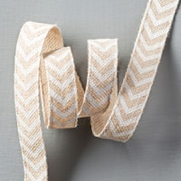 "Natural 5/8"" Chevron Ribbon"