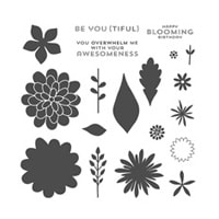 Flower Patch Photopolymer Stamp Set