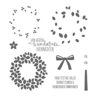 Wondrous Wreath (German) Photopolymer Stamp Set