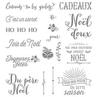 Hourra Pour Noël Photopolymer Stamp Set (French)