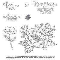 Birthday Blooms Clear-Mount Stamp Set