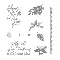 Peace This Christmas Wood-Mount Stamp Set