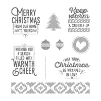Wrapped In Warmth Wood-Mount Stamp Set