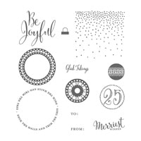 Merriest Wishes Wood-Mount Stamp Set