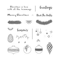 Forever Evergreen Photopolymer Stamp Set