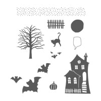 Halloween Scares Clear-Mount Stamp Set