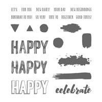 Happy Celebrations Photopolymer Stamp Set