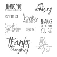 All Things Thanks Wood-Mount Stamp Set