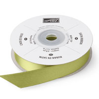 "Old Olive 5/8"" Satin Ribbon"""