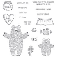 Bear Hugs Wood-Mount Stamp Set