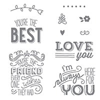 Friendly Wishes Clear-Mount Stamp Set