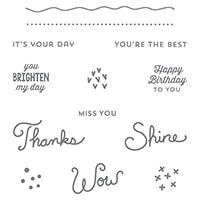 Sunburst Sayings Wood-Mount Stamp Set