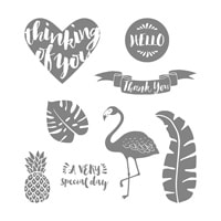 Pop Of Paradise Clear-Mount Stamp Set