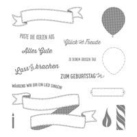 Geburtstagsbanner Photopolymer Stamp Set (German)