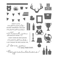 Bookcase Builder Photopolymer Stamp Set