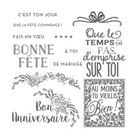 Fêtons En Grand Photopolymer Stamp Set