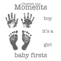 Baby Prints - Clear-Mount Stamp