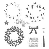 Wondrous Wreath (French) Photopolymer Stamp Set