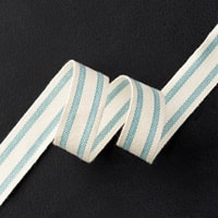 "Lost Lagoon 5/8"" Striped Cotton Ribbon"