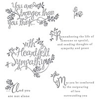 Heartfelt Sympathy Photopolymer Stamp Set