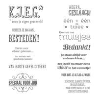 K.J.E.G. Photopolymer Stamp Set (Dutch)