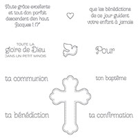 La Grâce De Dieu Clear-Mount Stamp Set (French)