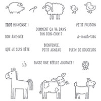 À La Ferme Clear-Mount Stamp Set (French)