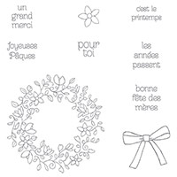 Cercle Printanier Photopolymer Stamp Set (French)
