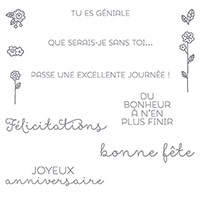 Souhaits Champêtres Clear-Mount Stamp Set (French)