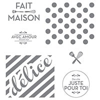 Fait Maison Juste Pour Toi Clear-Mount Stamp (French)