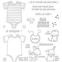 Fait Avec Amour Photopolymer Stamp Set (French)