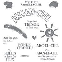 Les Couleurs De L'Arc-En-Ciel Photopolymer Stamp Set (French)