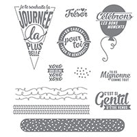 Pile De Souhaits Photopolymer Stamp Set (French)