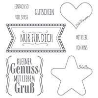 Mit Liebe Geschenkt Clear-Mount Stamp Set (German)