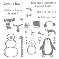 Petit Bonhomme Photopolymer Stamp Set (French)