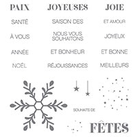 Souhaits De Joie Clear-Mount Stamp Set (French)