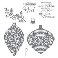 Ravissants Ornements Clear-Mount Stamp Set (French)