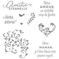 Coup De Foudre Clear-Mount Stamp Set (French)