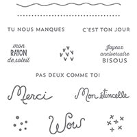 Souhaits Rayonnants Clear-Mount Stamp Set (French)