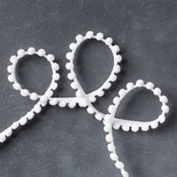 Whisper White Mini Pompom Trim
