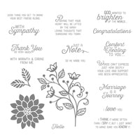 Flourishing Phrases Wood-Mount Stamp Set