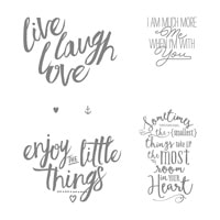 Layering Love Wood-Mount Stamp Set