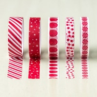 Candy Cane Lane Designer Washi Tape