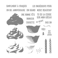 Douceurs Sucrées Photopolymer Stamp Set (French)