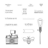 Jeux De Mots Photopolymer Stamp Set (French)