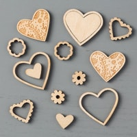 Sending Love Embellishments