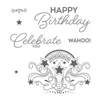 Birthday Blast Wood-Mount Stamp Set