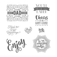 Everyday Tags Wood-Mount Stamp Set