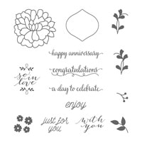 So In Love Wood-Mount Stamp Set
