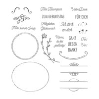 Angebracht Photopolymer Stamp Set